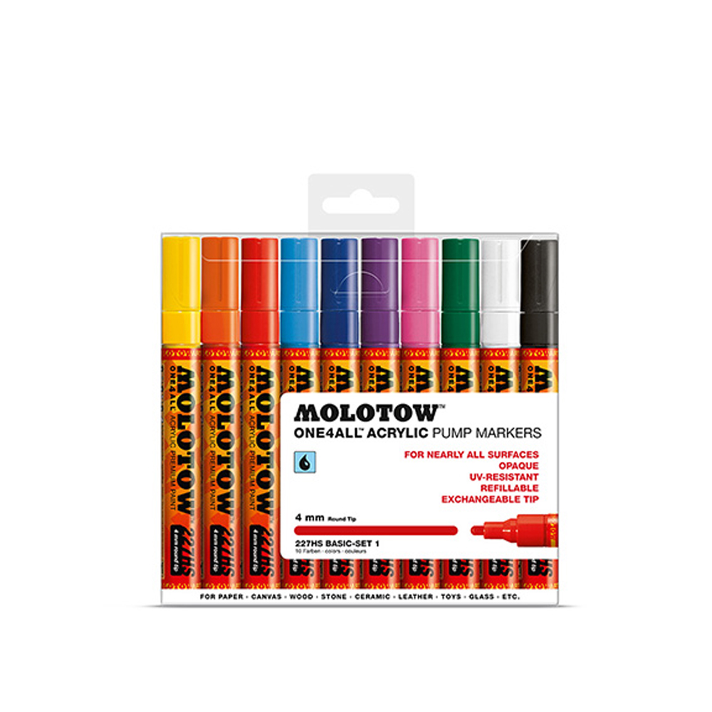 Molotow 227Hs Basic 4Mm Set 1-10 Piece