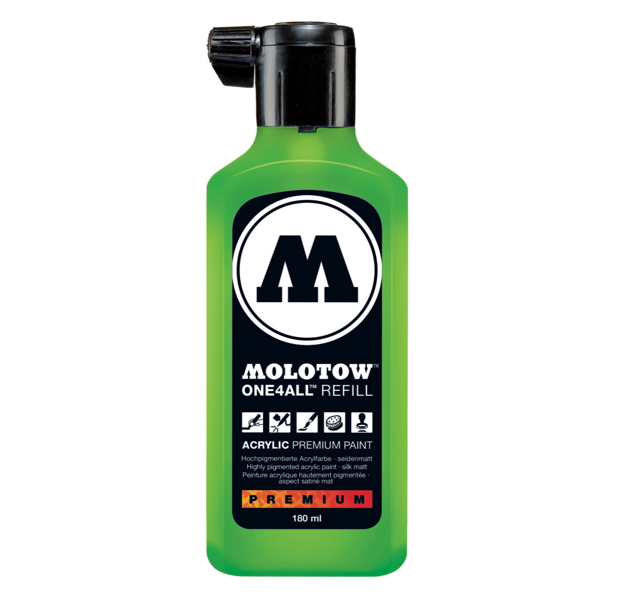 Molotow One4All Refill 180Ml Neon Green Fluo