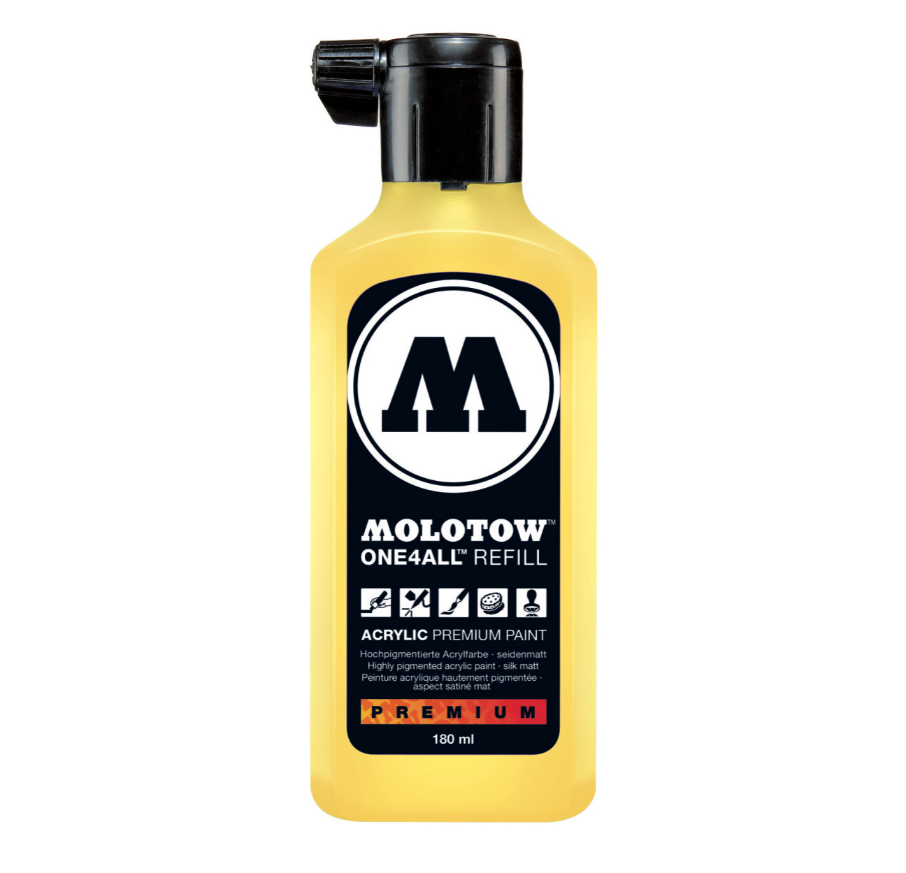 Molotow One4All Refill 180Ml Zinc Yellow