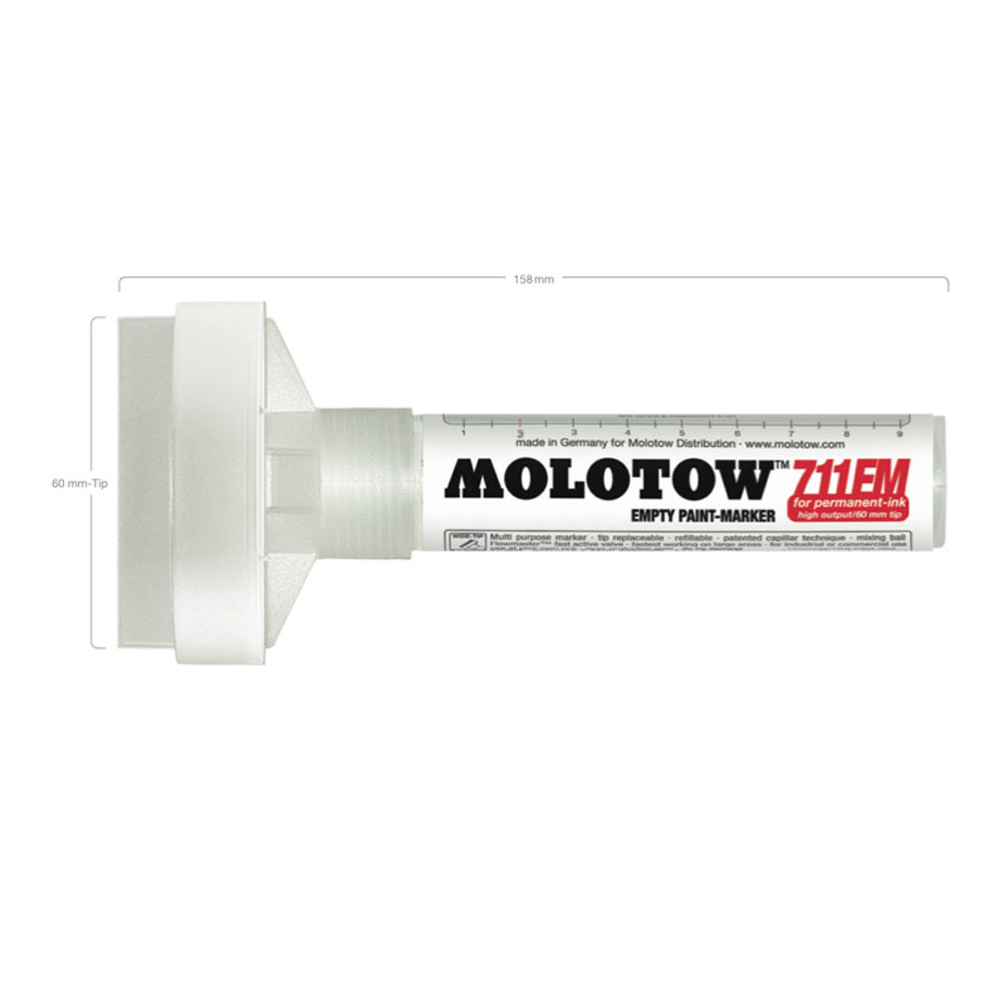 Molotow 711Em 60Mm Extra-Wide Empty Marker