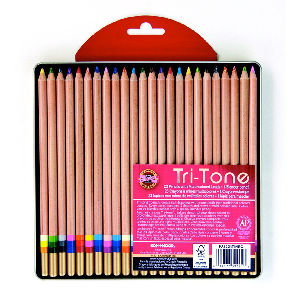 Koh-I-Noor Tritone 24 Pencil Set