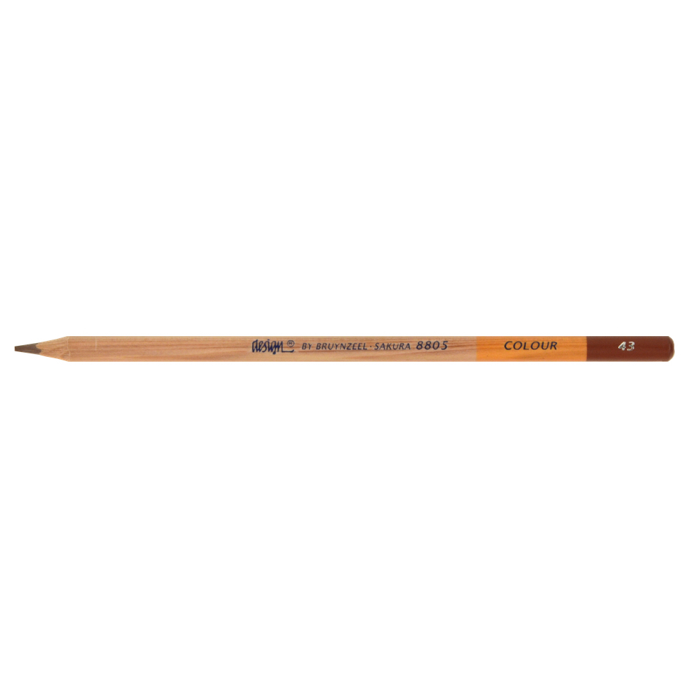 Bruynzeel Color Pencil Dark Brown #43