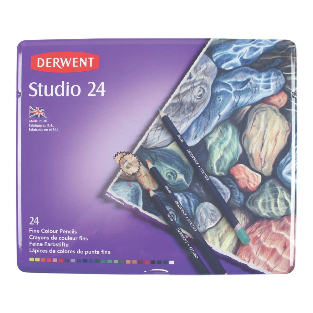 Derwent 24 Studio Pencil Tin Set