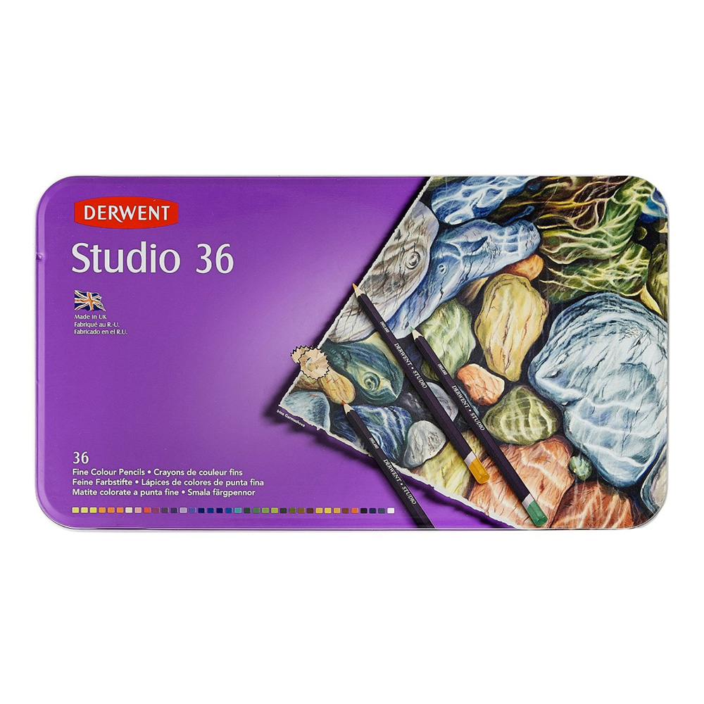 Derwent 36 Studio Pencil Tin Set