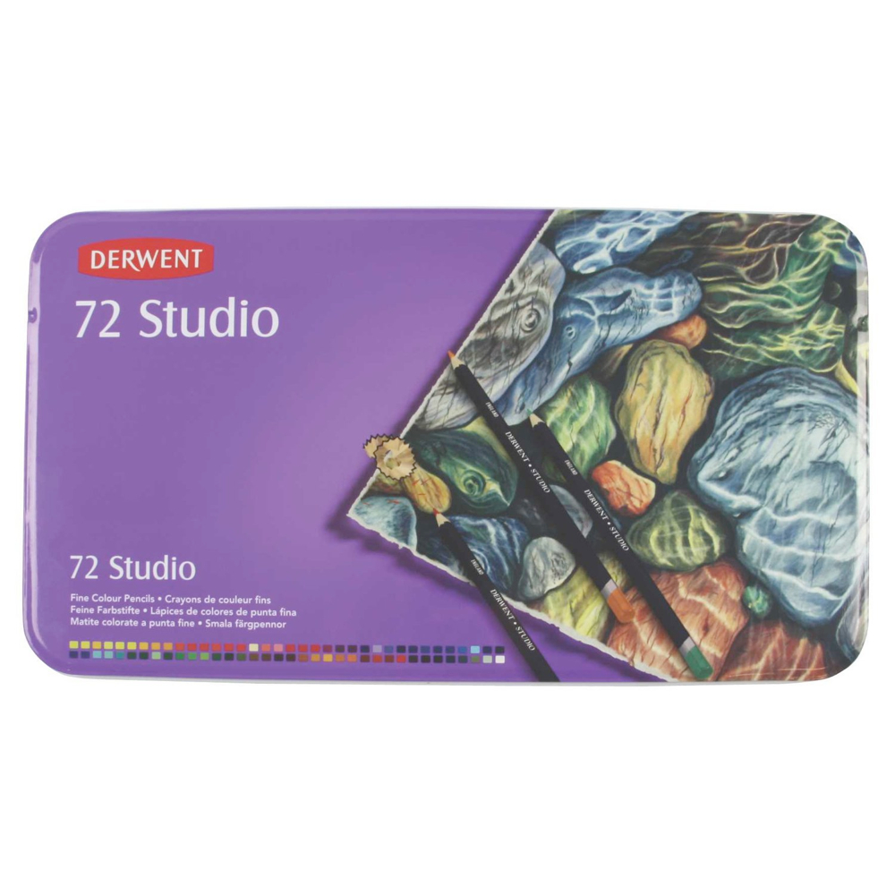 Derwent 72 Studio Pencil Tin Set