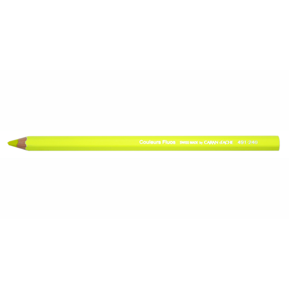 Caran D'ache Colorblock Pencil Fluo Yellow