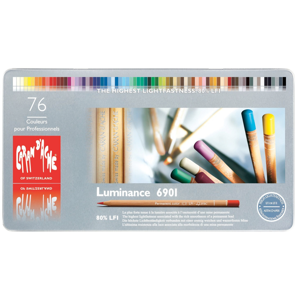 Luminance 6901 Color Pencil Set Of 76