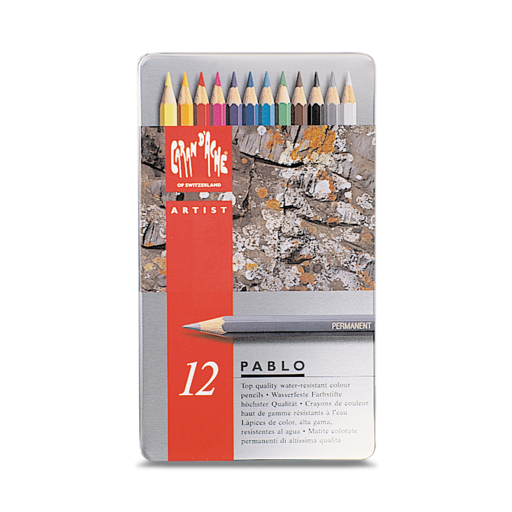 Caran D'ache Pablo Color Pencils Set Of 12
