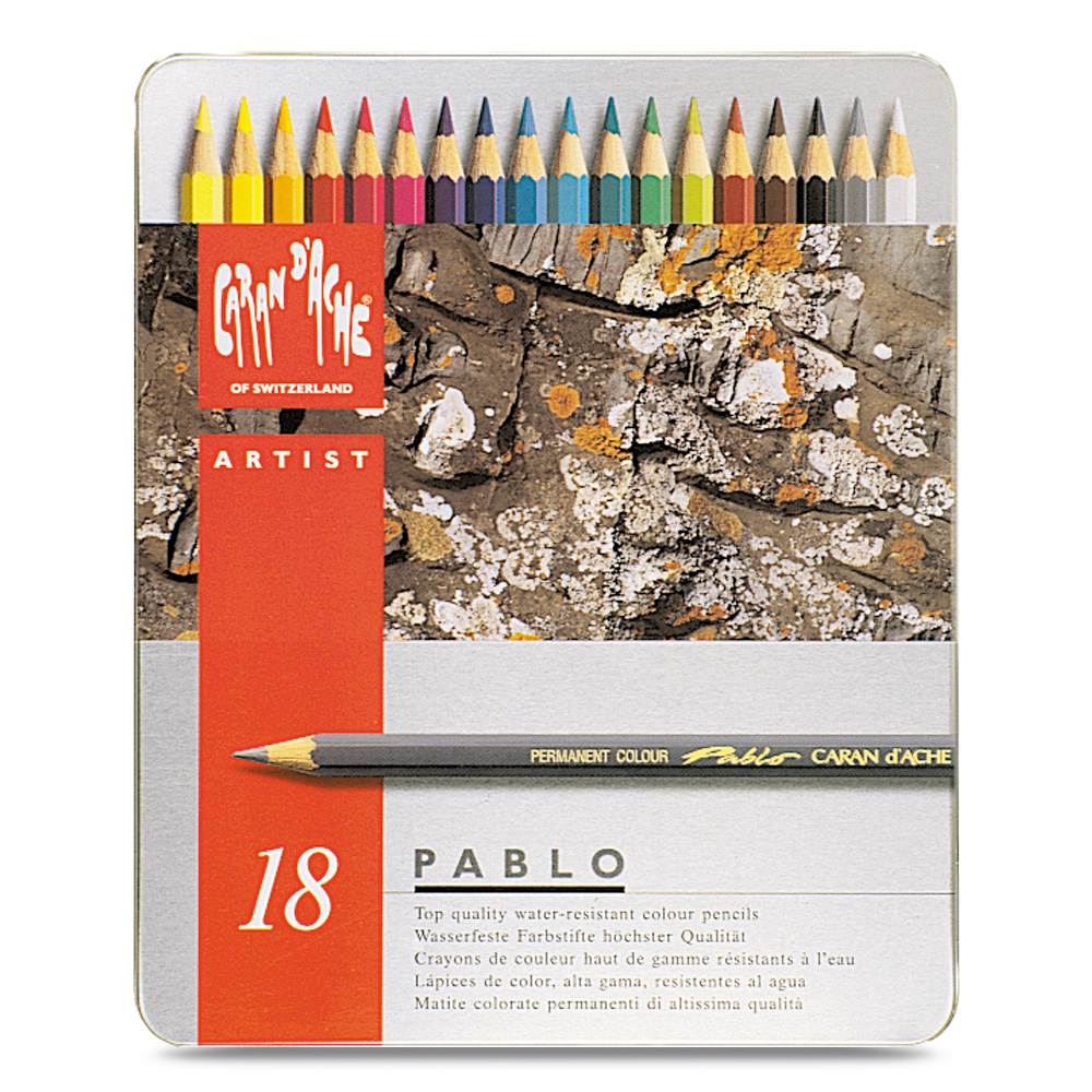 Caran D'ache Pablo Color Pencils Set Of 18