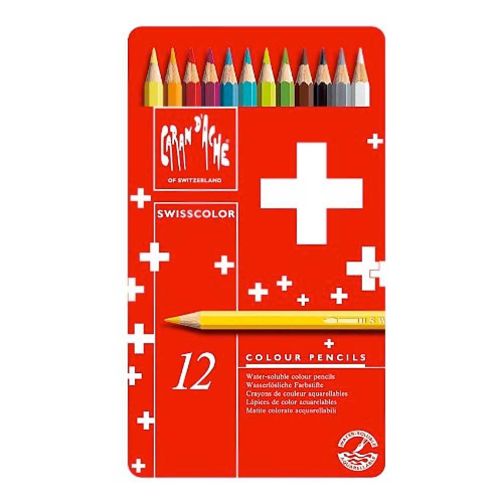 Swisscolor Pencils Metal Box Set Of 12