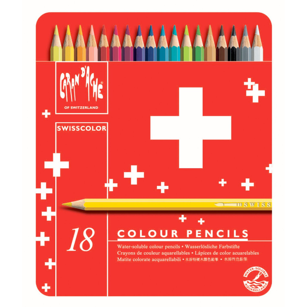 Swisscolor Pencils Metal Box Set Of 18