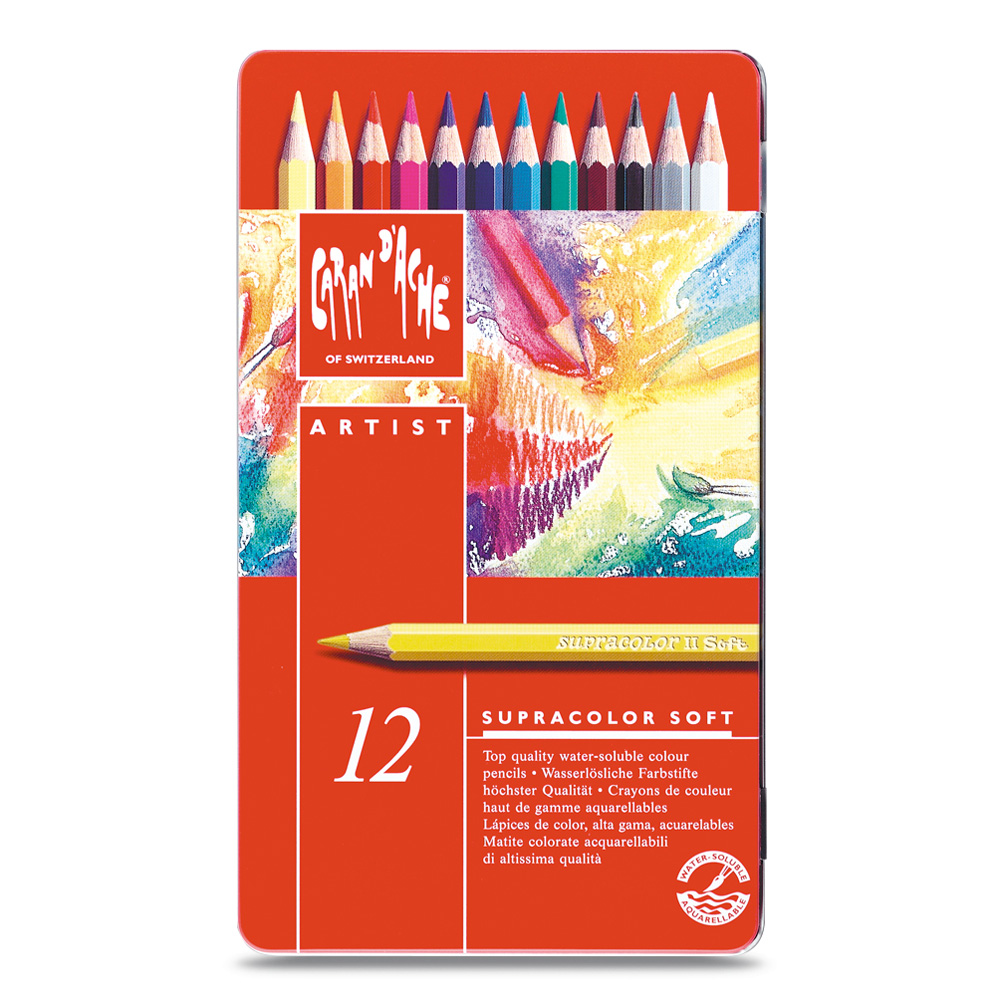 Caran D'ache Supracolor Metal Box Set Of 12