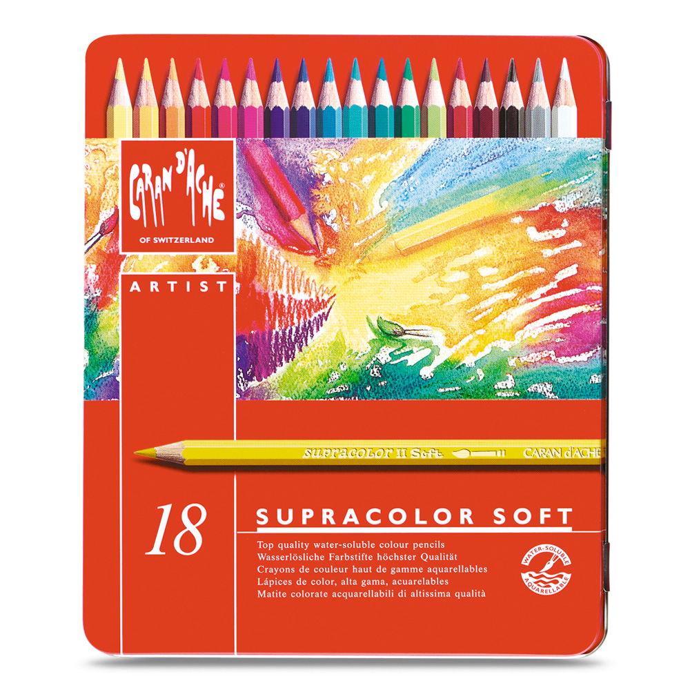 Caran D'ache Supracolor Metal Box Set Of 18