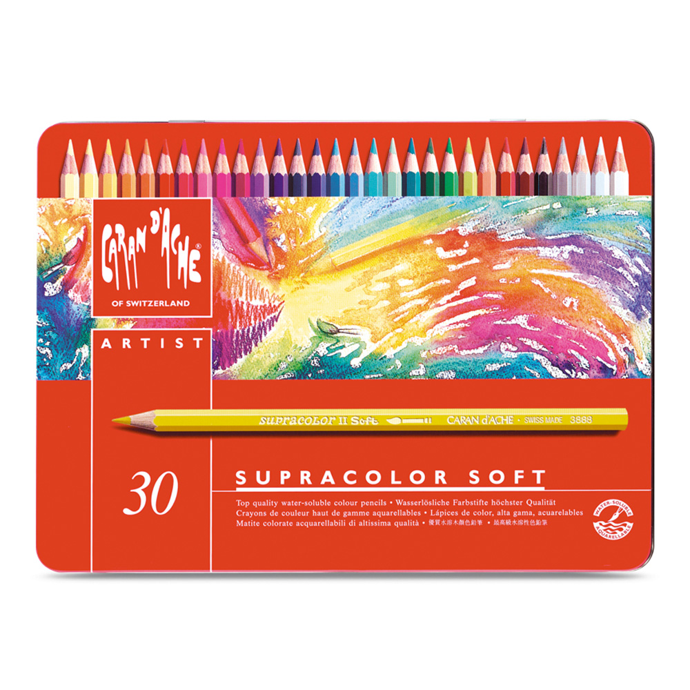 Caran D'ache Supracolor Metal Box Set Of 30