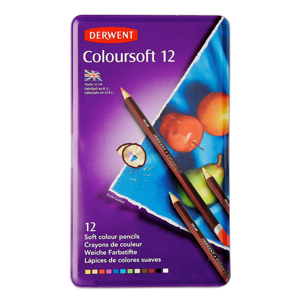 Derwent Coloursoft 12 Pencil Tin Set