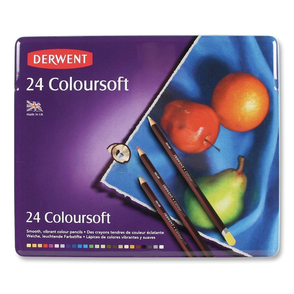 Derwent Coloursoft 24 Pencil Tin Set