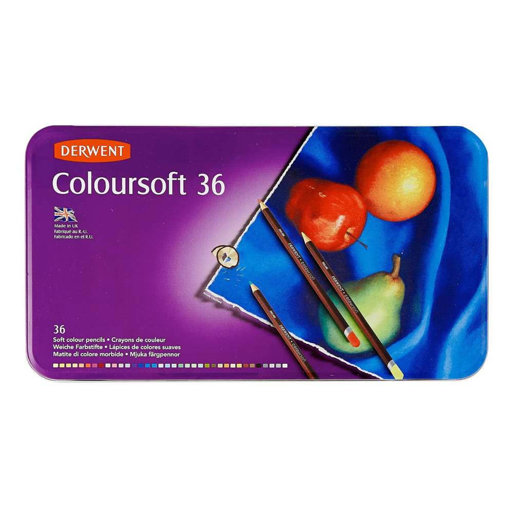 Derwent Coloursoft 36 Pencil Tin Set