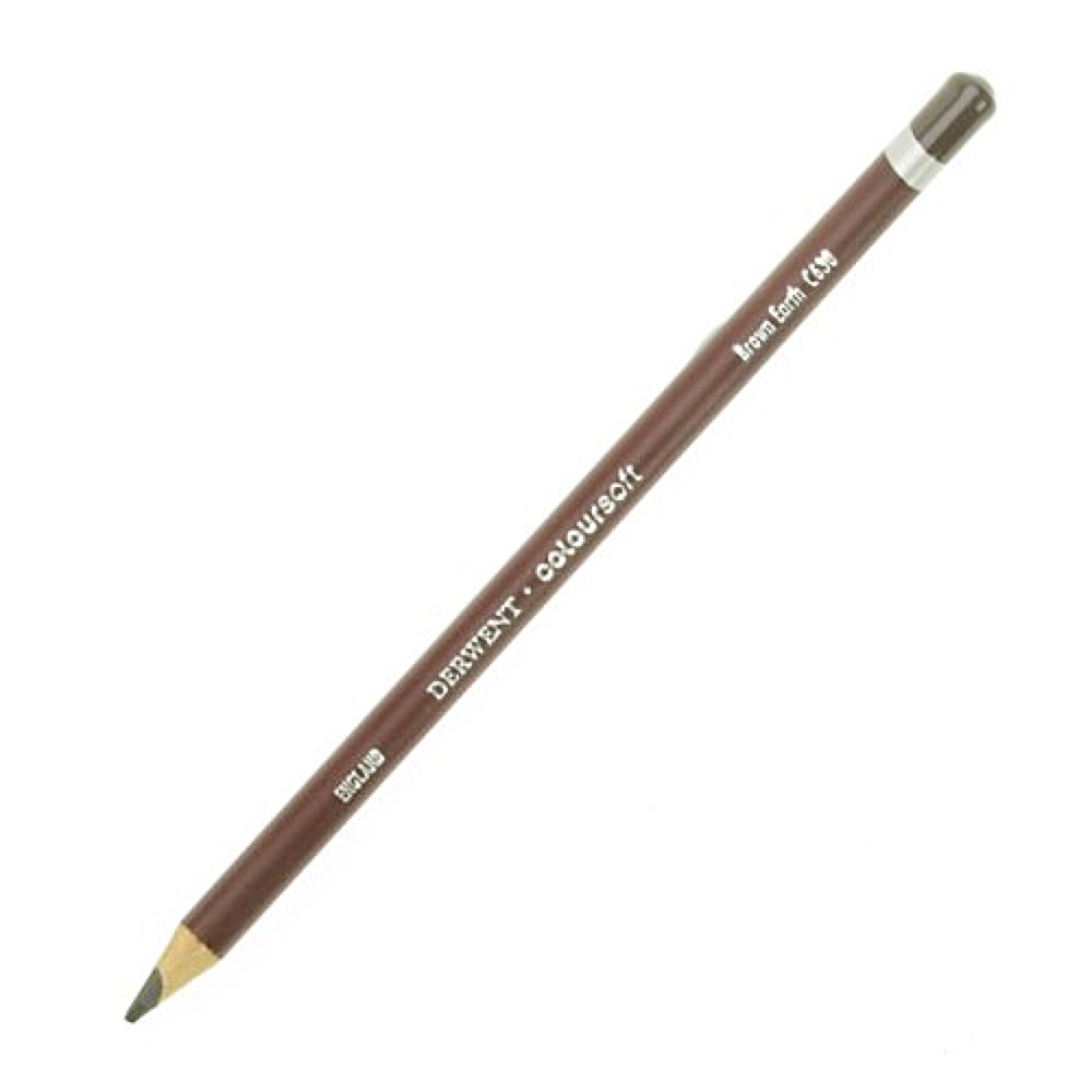Derwent Coloursoft Pencil Brown Earth