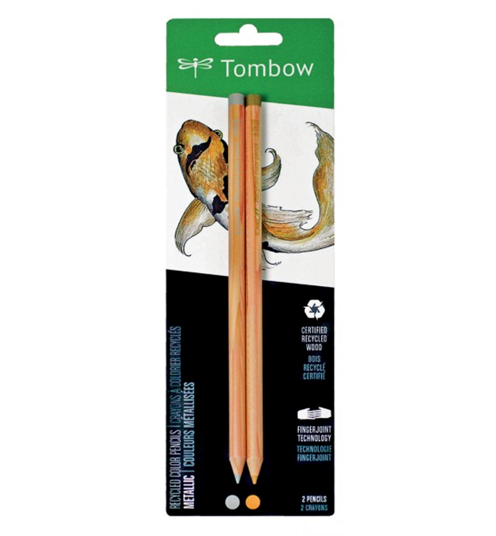 Tombow Recycled Colored Pencil Set 2 Metallic