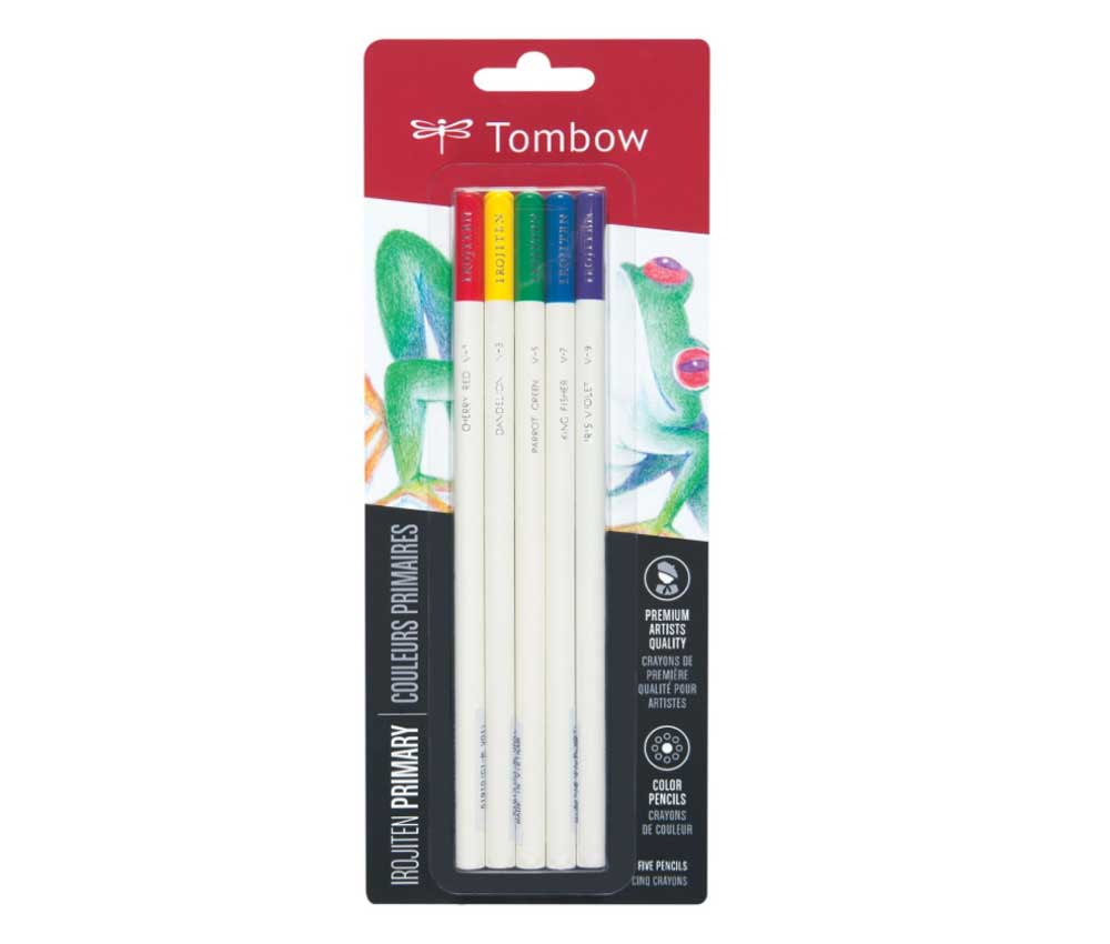 Irojiten Color Pencil Set 5 Primary Colors