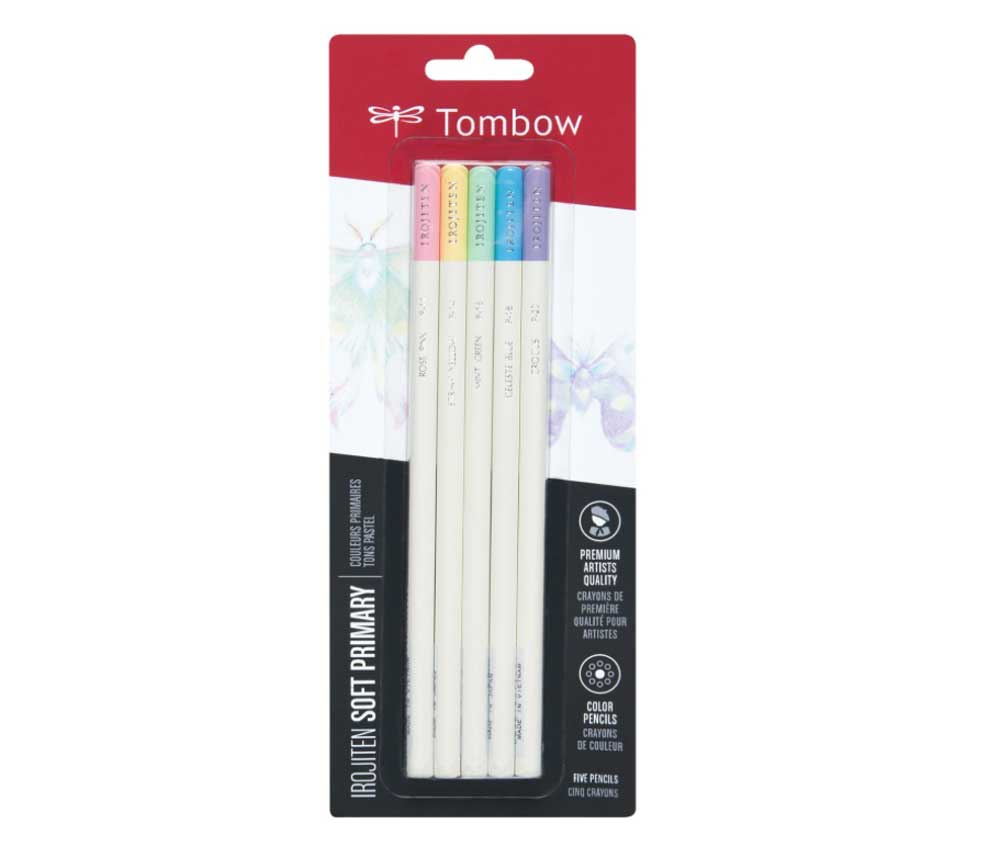 Irojiten Color Pencil Set 5 Soft Primary Clrs