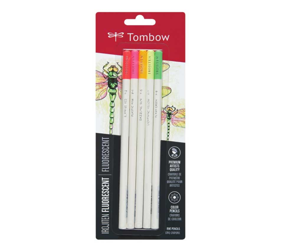 Irojiten Color Pencil Set 5 Fluorescent Color