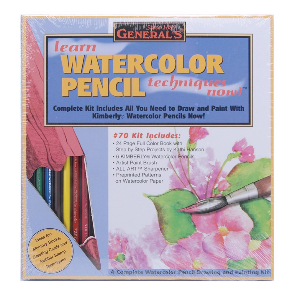 General Learn Watercolor Pencil Kit