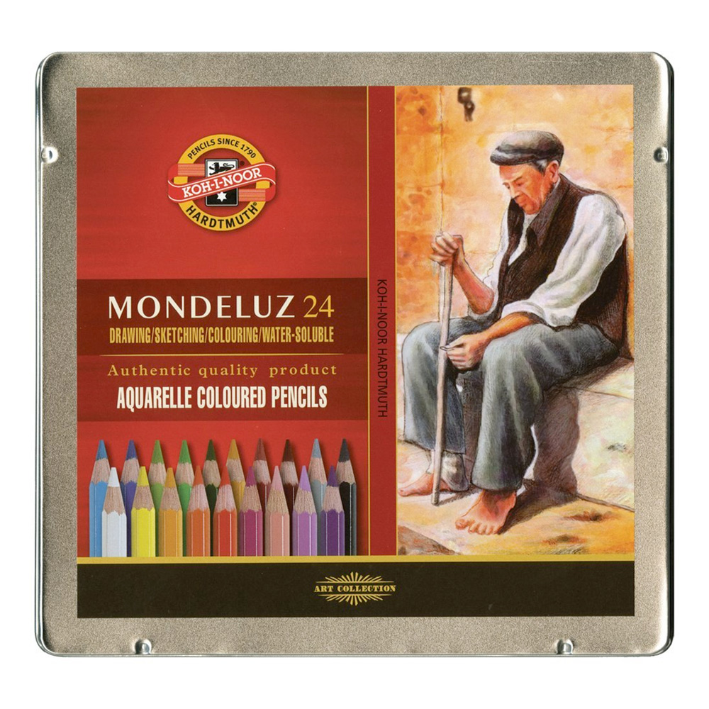 Koh-I-Noor Mondeluz Aquarell Pencil Set/24