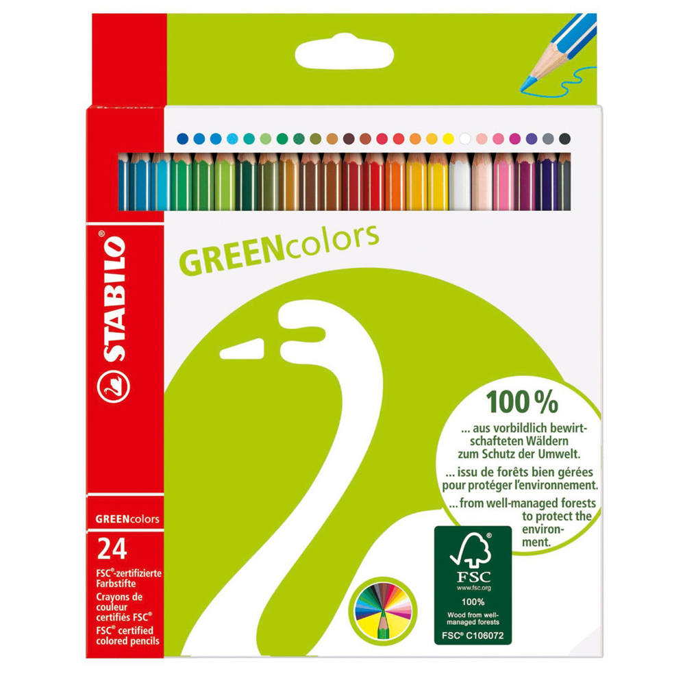 BUY Stabilo Green Colored Pencil Set Of 24