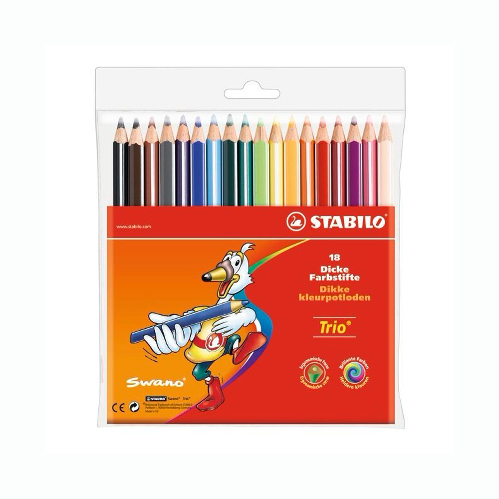 Stabilo Trio Thick Colored Pencil Set Of 18
