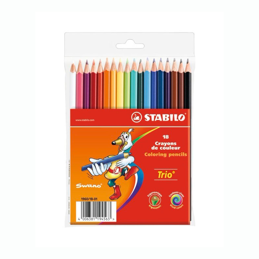 Stabilo Trio Colored Pencil Set Of 18