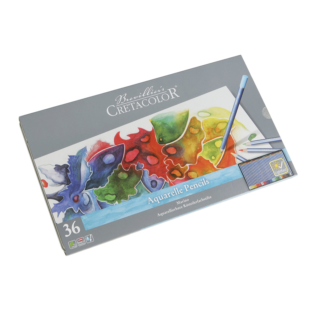 Cretacolor Marino Watercolor Pencil Tin Of 36