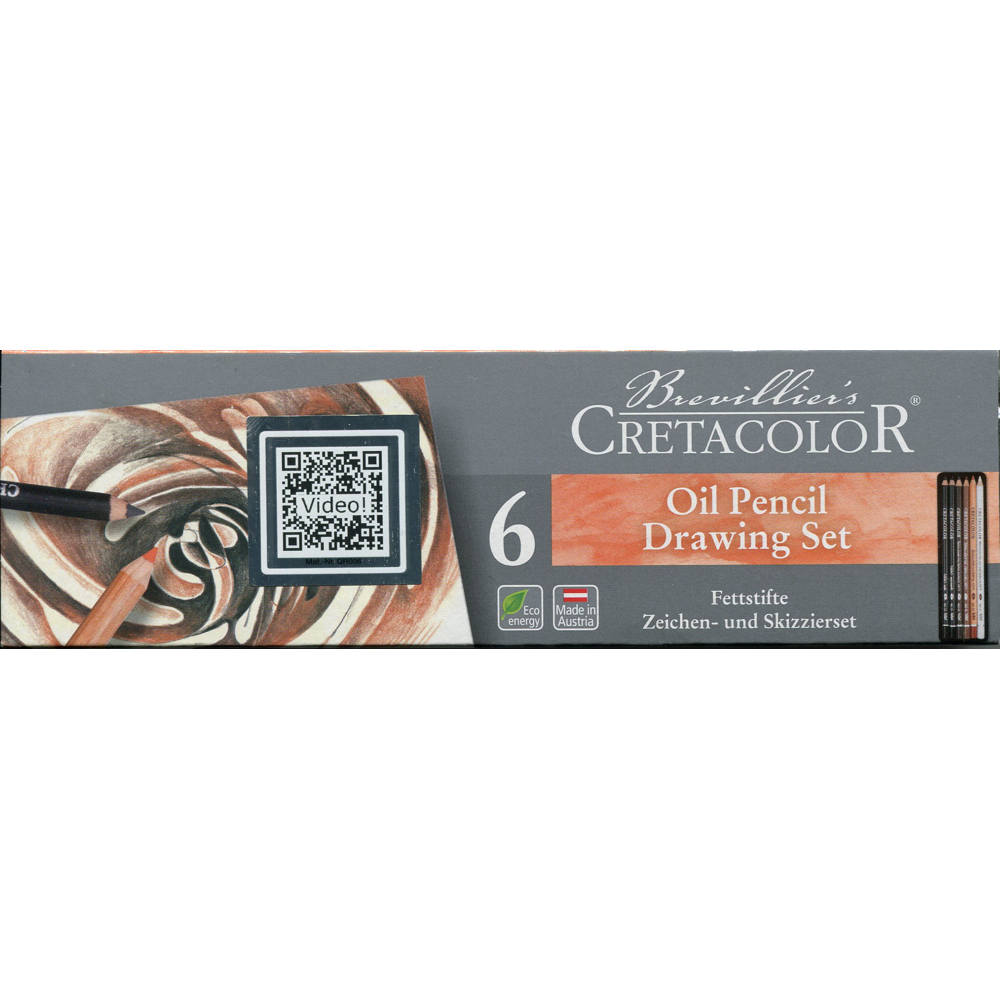Cretacolor Oil Pencil Tin Box Set/6