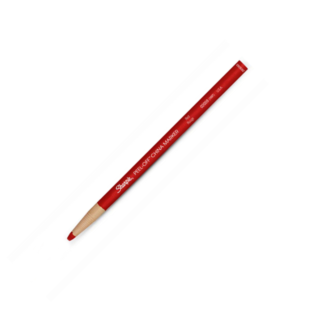 Peel-Off China Marker 169T Red