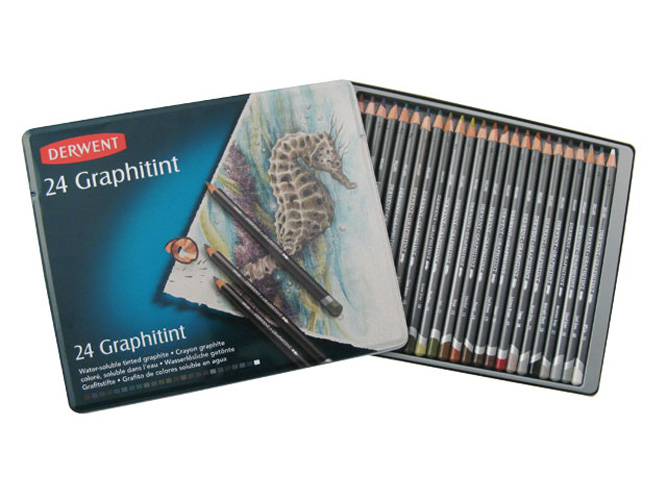 Derwent Graphitints 24 Pencil Tin Set