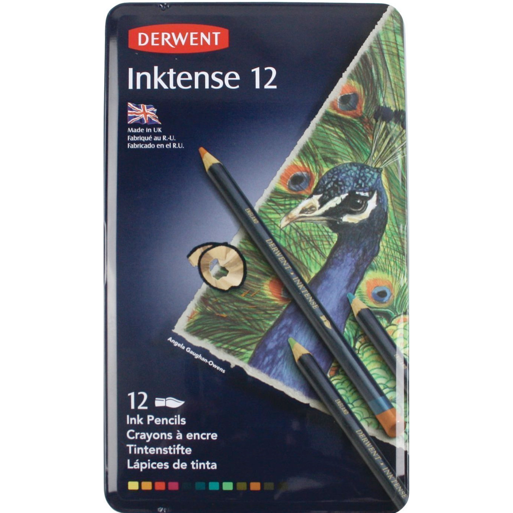 Derwent Inktense 12 Pencil Tin Set