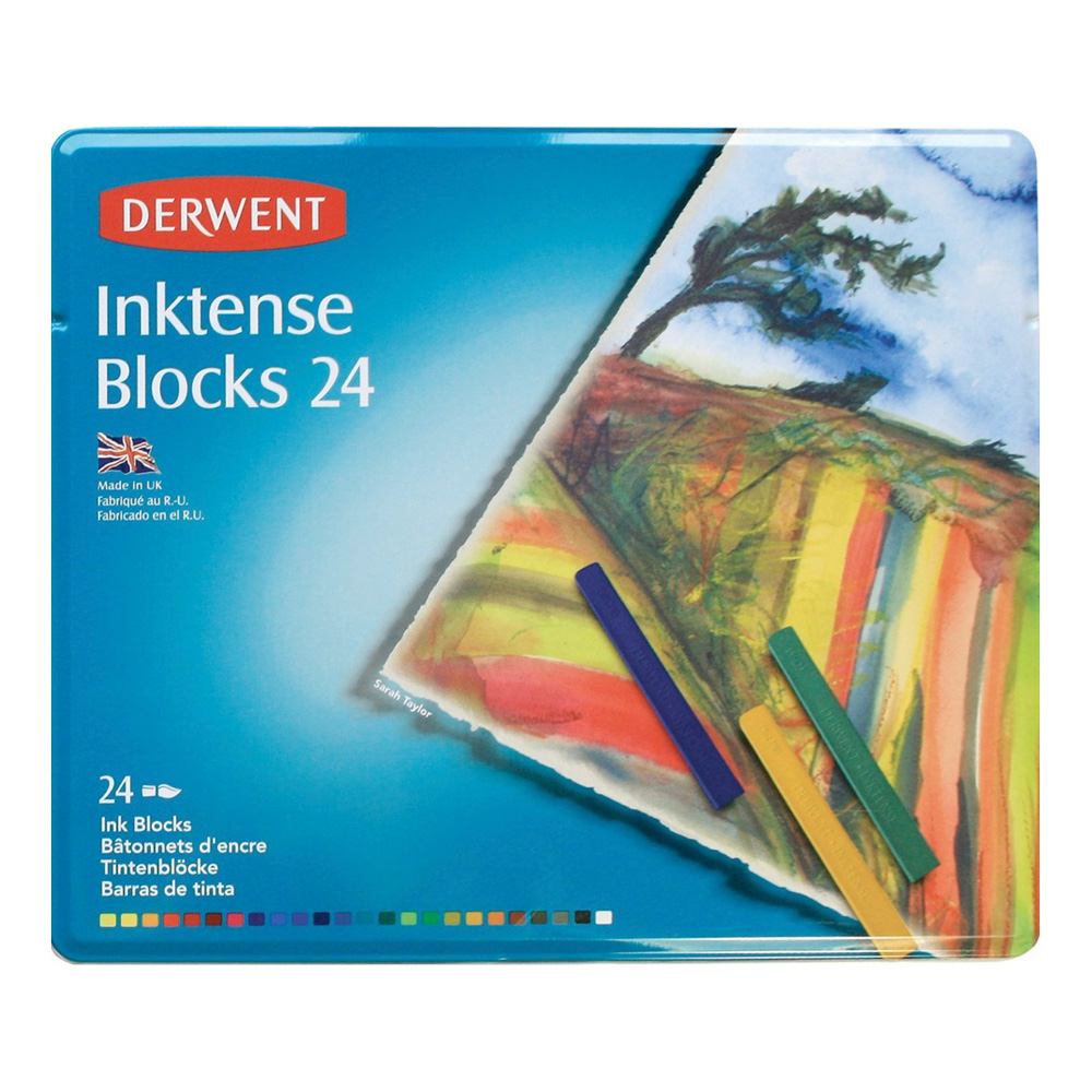 Derwent Inktense 24 Block Tin Set