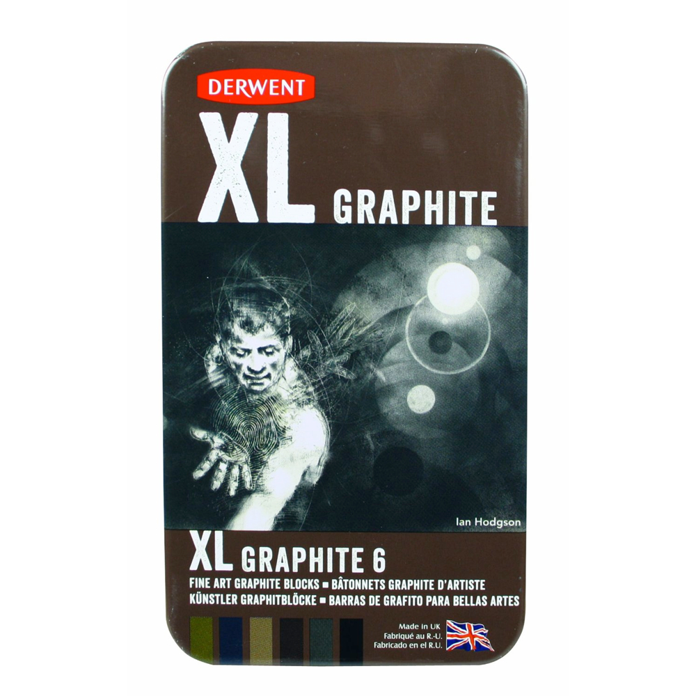 Derwent Xl Graphite Block 6 Pc Tin Set