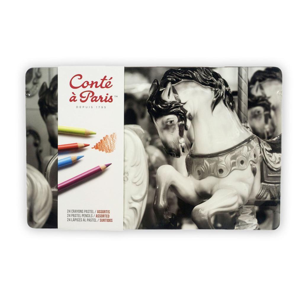 Conte 24 Color Pastel Pencil Set