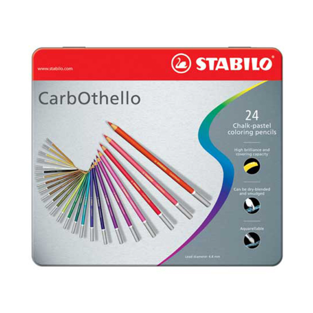 Carb-Othello Pastel Pencil 24 Color Set