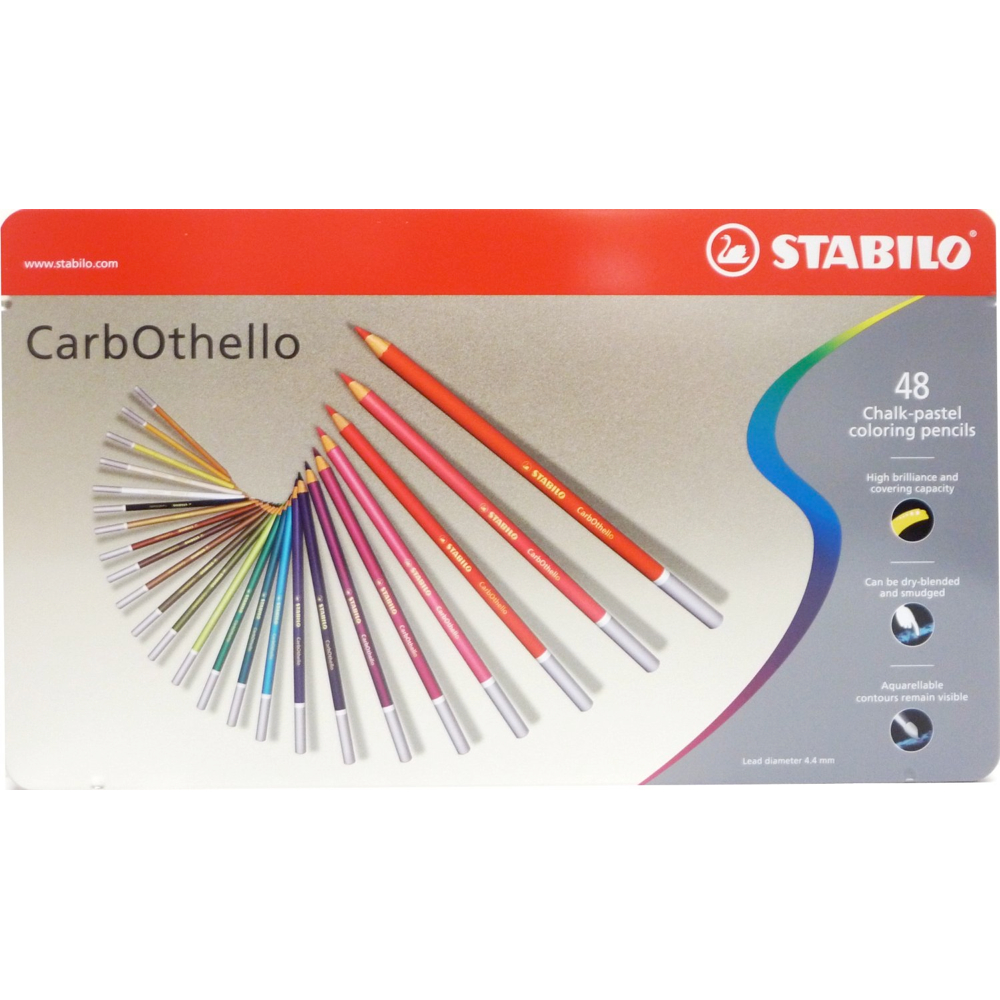 Carb-Othello Pastel Pencil 48 Color Set
