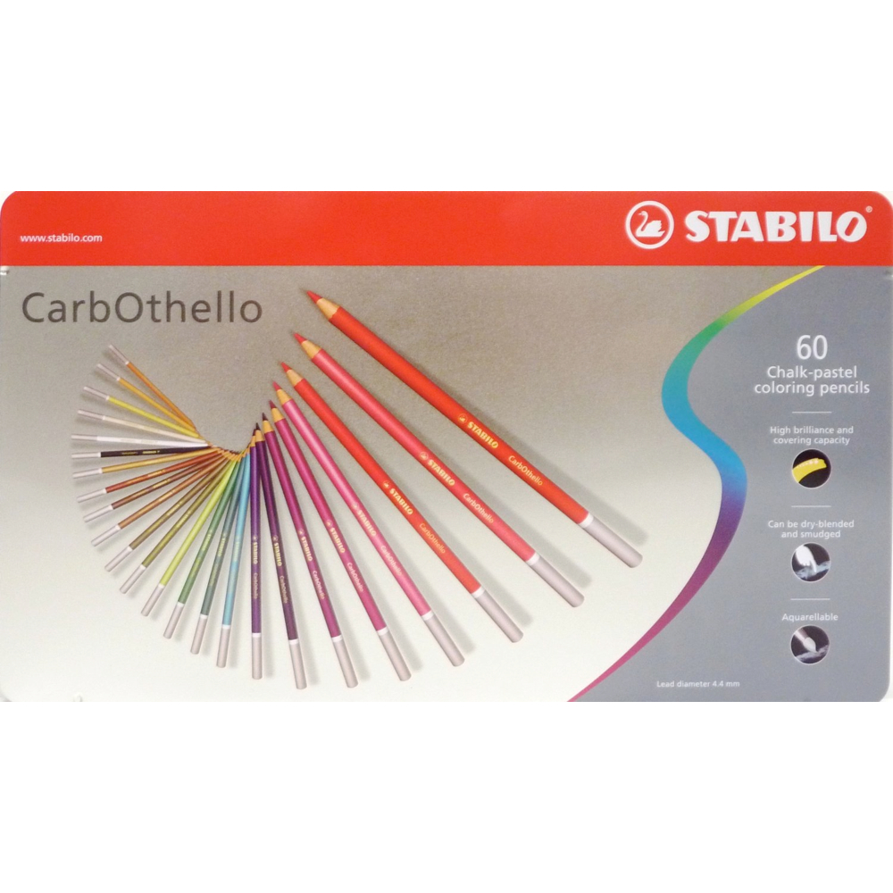 Carb-Othello Pastel Pencil 60 Color Set