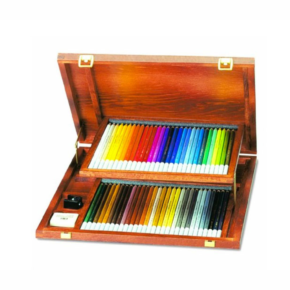 Carb-Othello Pastel Pencil 60 Wood Box Set