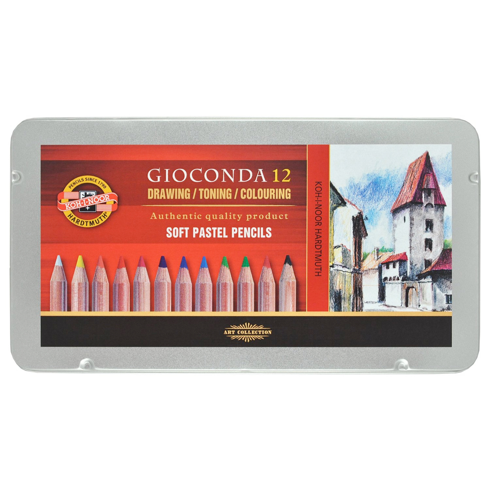 Koh-I-Noor Gioconda Soft Pastel Pencil Set/12