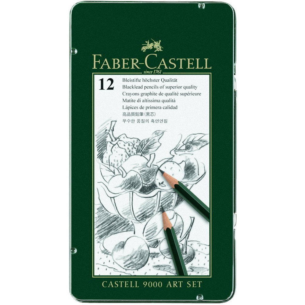 Faber-Castell 9000 12 Art Pencil Tin Set