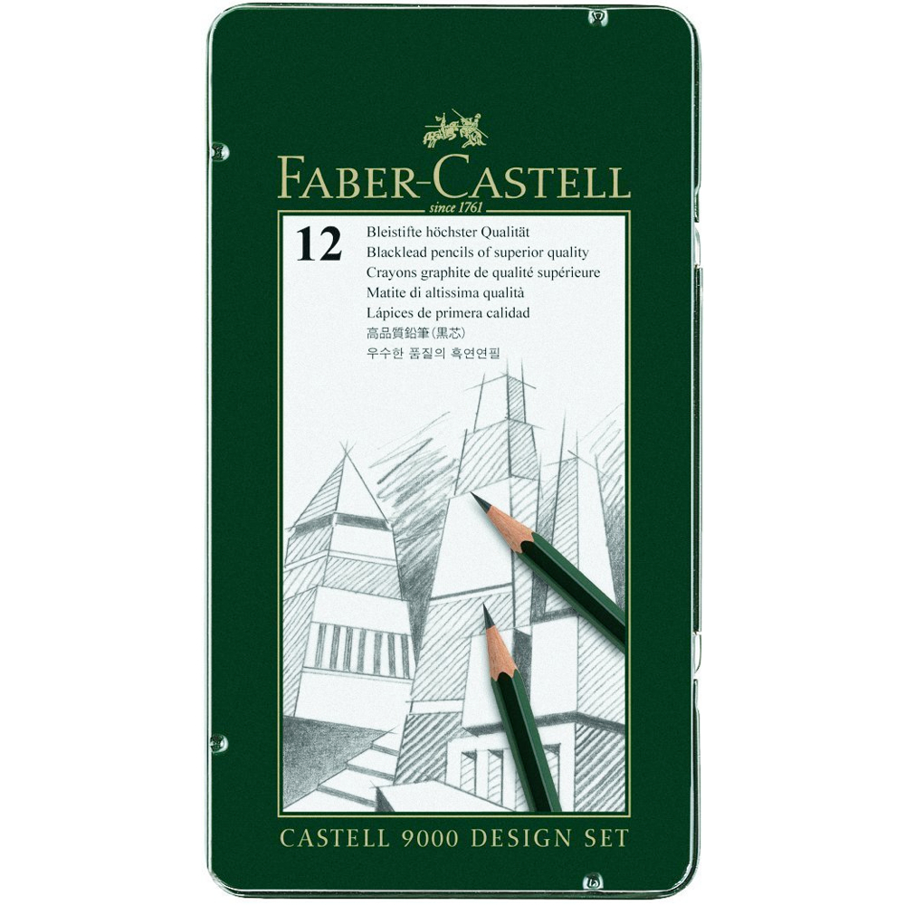 Faber-Castell 9000 12 Design Pencil Tin Set