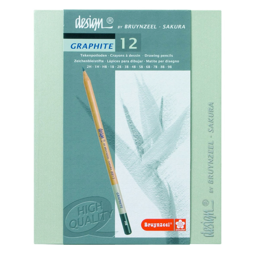 Bruynzeel 12 Graphite Pencil Box Set
