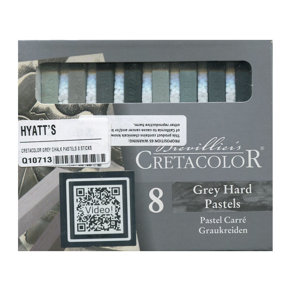 Cretacolor Grey Chalk Pastels 8 Sticks