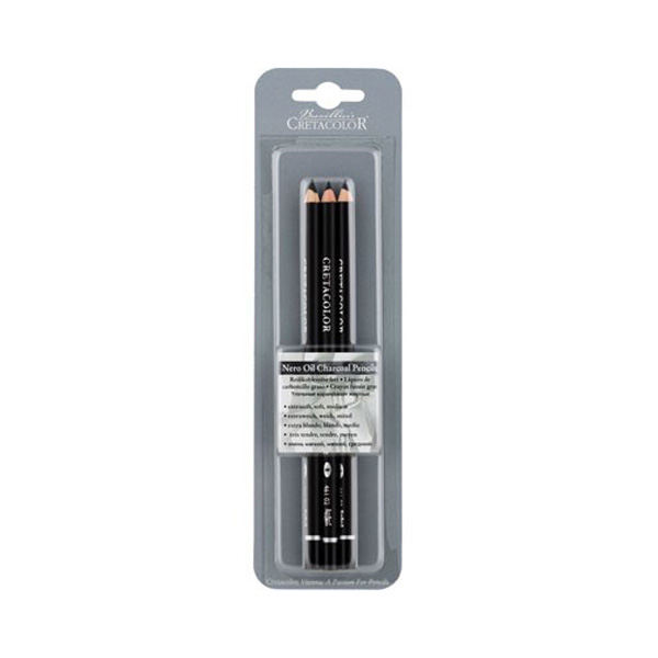 Cretacolor Nero Pencil 3Pk X-Soft Soft Med