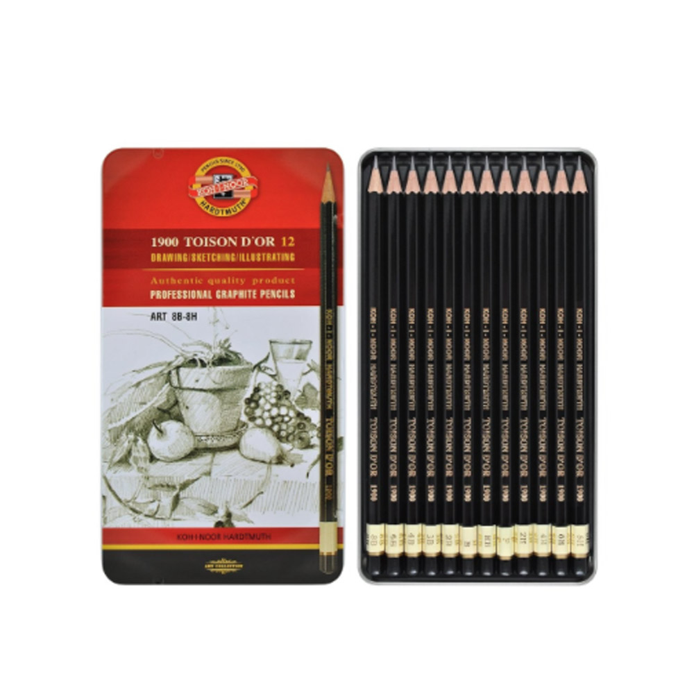 Koh-I-Noor Toison D'or 12 Graphic Pencil Tin
